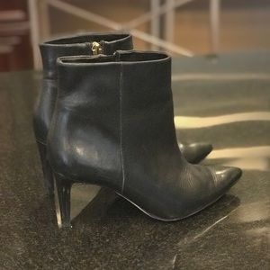 Sam Edelman Size 6.5 Black Leather Booties